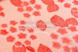 Couverture gravée en relief estampée d'ouatine de flanelle/Couverture-Fleurs coupées d'ouatine