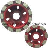 PCD 끝 다이아몬드 가는 콘크리트를 위한 가는 컵 바퀴