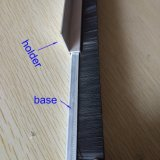 Escova inferior da tira do indicador da poeira