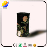 Vase en bois à crayon de rétro gravure culturelle