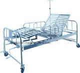 Zwei Funktions-manuelles Krankenhauspatient-Bett BS-728A