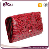 Fani 2017人の熱い販売法の赤い本革の財布の女性