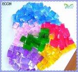 O solo de cristal quadrado novo de Designfl floresce grânulos coloridos da água