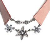 方法マルチ層のラインストーンの水晶ヒトデのビロードのチョークバルブのネックレスの宝石類