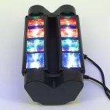 8*3W LEDのディスコのスキャンナーの小型移動ヘッドビームくも