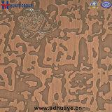 Feuilles rouges d'acier inoxydable pour la feuille gravée en relief par feuille gravure de feuille de couleur de décoration