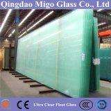 3-25mmの超明確で低い鉄のフロートガラスの(和らげられたか、またはアニールされたガラス)
