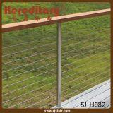 Inferriata di asta della ringhiera dell'acciaio inossidabile di obbligazione per il terrazzo esterno (SJ-H082)
