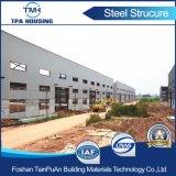 Полуфабрикат здание рамки стальной структуры на индустриальной зоне