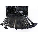 32 cepillos cosméticos del maquillaje del pelo del PCS del cocodrilo de la PU de la belleza sintetizada profesional determinada del bolso