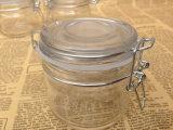 ¡tarro de cristal del almacenaje 200ml, tarro de cristal con la hebilla, mini tarro de cristal del atasco del alimento!
