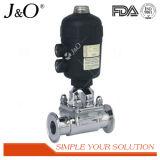 Válvula de diafragma pneumática sanitária com atuador Ss