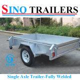 7X5 de enige Aanhangwagens van de Doos van het Landbouwbedrijf van de As in Slimme Prijs