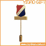 Großhandelsblumen-GoldreversPin für förderndes Geschenk (YB-SM-38)