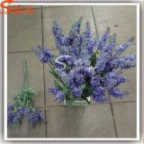 Flores artificiales de seda de la lavanda para la decoración casera en ramo