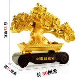 الصين زخرفة غنيّة شجرة [بشرا] [مكروكربا] ثروة تمثال محظوظ