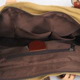 Помытый мешок руки холстины с сумками повелительниц кожаный планки (RS-8582B)