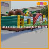 動物園の主題の子供(AQ01139)のための膨脹可能な障害物コースの運動場