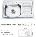 Het roestvrije Één stuk die van de Keuken het Bijvoegsel wls8050-B vormen van de Gootsteen
