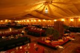 1000 الناس عرس [هلّ] خيمة مع زخرفة بطانة ستار سقف