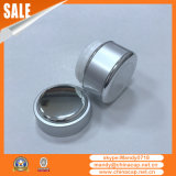 Kundenspezifisches mini kleines Beispielkosmetisches Glas mit Aluminiumschutzkappen