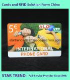 Cor cheia do cartão plástico do PVC do cartão