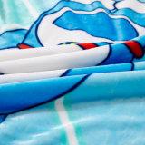 Manta del sofá del paño grueso y suave de la franela de la historieta, manta del bebé del cochecito