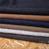 ウールの/Cotton /Acrylicの灰色の黒の混合されたウールファブリック
