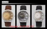Het gepersonaliseerde Horloge van de Mensen van het Kwarts met de Echte Riem Fs550 van het Leer