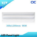 Luz de painel de alumínio do teto do diodo emissor de luz 300X1200 do material 96W do corpo da lâmpada