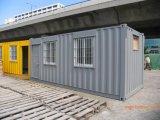 Дом контейнера Prefab офиса 20FT изоляции Китая