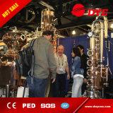 Hecho en China industrial de cobre rojo de vidrio de alcohol flauta Columna de Destilación