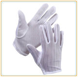 PVC поставил точки белые перчатки работы ESD