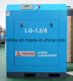 Compresseur stationnaire LG-1.2/8 de vis de connexion de courroie de la marque 7.5kw/10HP de Kaishan