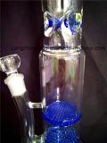 Pipe de fumage en verre en verre de conduite d'eau