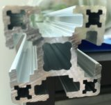 Profil industriel en aluminium anodisé mat en argent et extrusion d'aluminium