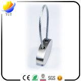 Correntes chaves da circular e do metal em cabo de aço da forma da elipse