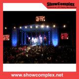 Polychrome extérieur de l'affichage vidéo de location de DEL pour le concert avec l'intense luminosité (500*500mm pH3.91)