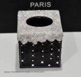 Sostenedor cristalino del tejido del diamante del Rhinestone del rectángulo del tejido del diamante de la nueva manera 2017 para la decoración del coche (TBB-Cuadrado 022)