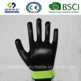 interpréteur de commandes interactif du polyester 13G avec les gants de travail enduits par nitriles (SL-N110)