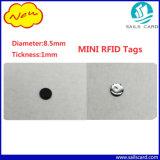 2017 mini tag RFID neufs pour la bouteille/tissu/management de médecine