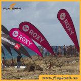 Bandeira de praia portátil da fibra de vidro ao ar livre de Exbition/bandeira pólo do vôo