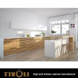 Governi neri moderni del Pantry della cucina di /White con il disegno Tivo-0142h dell'isola