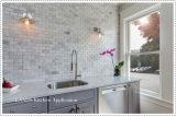 Azulejo de mosaico de mármol blanco de Carrara del material de construcción para el suelo (FYST201)