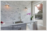 Baumaterial-Carrara-weiße Marmormosaik-Fliese für Bodenbelag (FYST201)