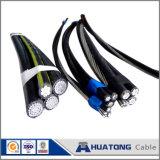 Обслуживайте кабель ABC кабеля падения воздушный связанный переплетенный кабелем алюминиевый