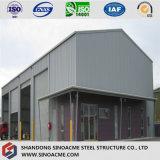 OEM подгонял Prefab стальную структурно мастерскую/полинянный/Warehuse