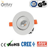 O teto montou 20W o diodo emissor de luz Recessed Downlight da luz de teto do diodo emissor de luz do entalhe 110mm Dimmable do diodo emissor de luz Downlight com Significa-Bem o excitador de Osram