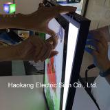 Publicidad Slim LED Caja de luz para pared de aluminio montado Menú Junta