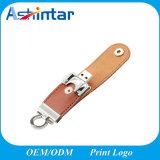 지원에 의하여 돋을새김되는 로고 USB 기억 장치 Pendrive 가죽 USB 지팡이